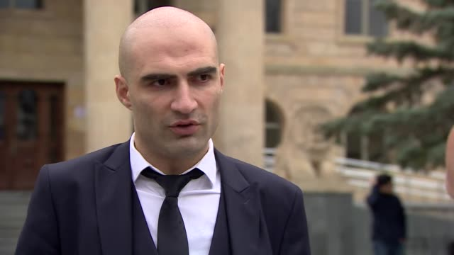 jack shepherd's lawyer tariel kakabadze saying shepherd believes he is innocent and there is not a single bit of evidence in the case - unschuld stock-videos und b-roll-filmmaterial