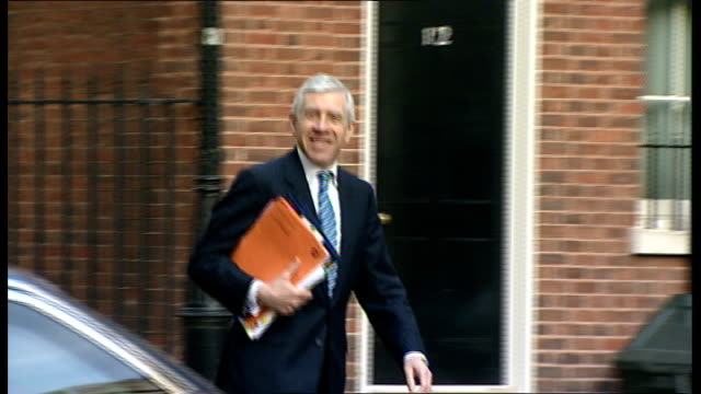 Jack Straw criticised for 'easy meat' comment on sexual abuse ENGLAND London Downing Street EXT Jack Straw MP along towards Number 10