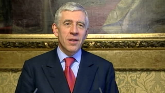 jack straw faces legal action over rendition claim lib photography *** jack straw mp press conference sot we know of no occasion where there has been... - jack straw stock videos & royalty-free footage