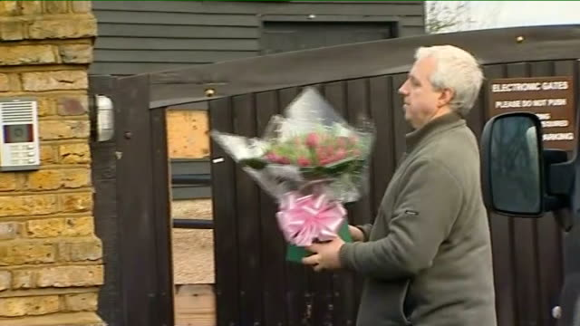 jack straw intervenes to allow jade goody and fiance to spend wedding night together flowers and tweedy arrive at house england essex upshire ext... - jack straw stock videos and b-roll footage