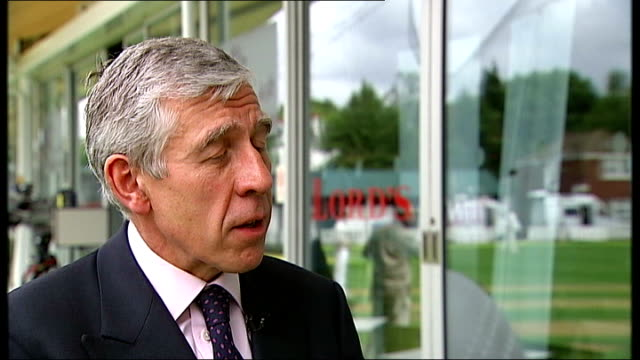 ext jack straw mp interview sot on extension of programme to cover over 20s - jack straw stock videos and b-roll footage