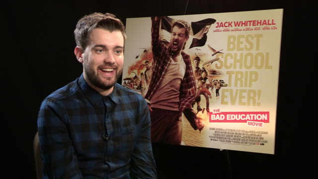 interview jack whitehall on filming in cornwall being cornwall 'braveheart' mel gibson at 'the bad education movie' junket on august 11 2015 in... - mel gibson stock videos and b-roll footage