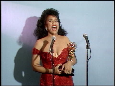 jackee at the 1987 emmy awards inside at the pasadena civic auditorium in pasadena california on september 20 1987 - 1987 stock videos & royalty-free footage