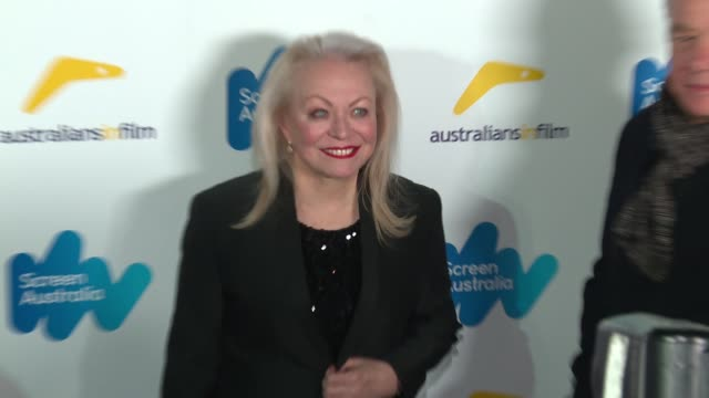 jacki weaver at the screen australia and australians in film host australian oscar nominees party at four seasons hotel los angeles at beverly hills... - oscar party stock-videos und b-roll-filmmaterial