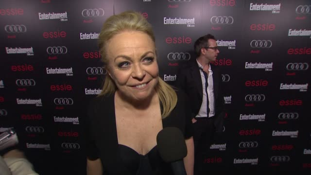 interview jacki weaver on award season being stressful the sag awards and how being nominated is great but how it would be really great to win at... - entertainment weekly stock-videos und b-roll-filmmaterial