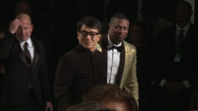 jackie chan and chris tucker at 2017 vanity fair oscar party hosted by graydon carter on february 26 2017 in beverly hills california - oscar party stock-videos und b-roll-filmmaterial