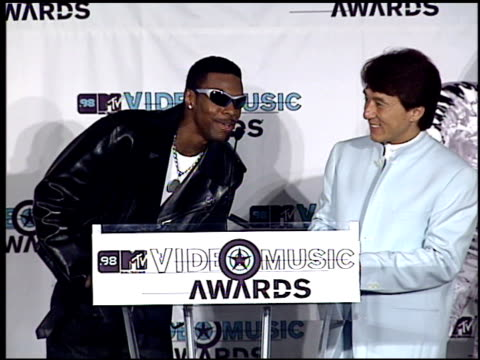 Jackie Chan at the 1998 MTV Video Music Awards press room at Universal Amphitheatre in Universal City California on September 10 1998