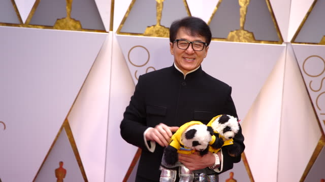 jackie chan at the 89th annual academy awards - arrivals at hollywood & highland center on february 26, 2017 in hollywood, california. 4k available -... - jackie chan stock videos & royalty-free footage