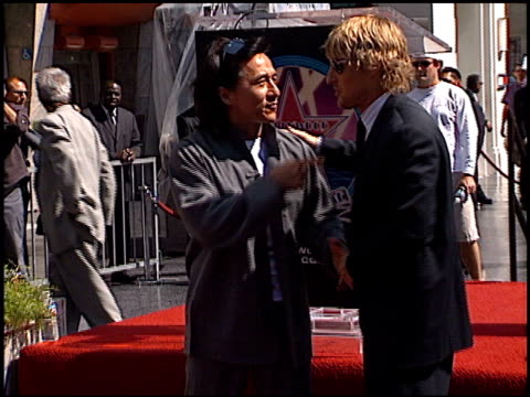 Jackie Chan at the Dediction of Jackie Chan's Walk of Fame Star at the Hollywood Walk of Fame in Hollywood California on October 4 2002