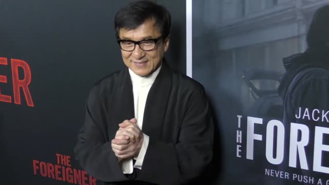 jackie chan at the premiere of stx entertainment's 'the foreigner' at arclight hollywood on october 05, 2017 in hollywood, california. - jackie chan stock videos & royalty-free footage