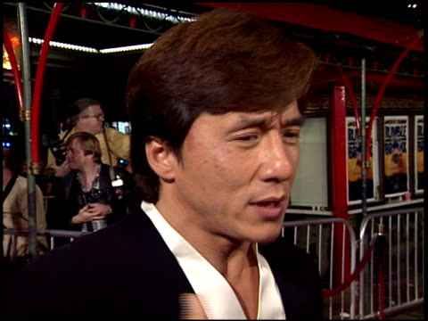 Jackie Chan at the 'Rumble in the Bronx' Premiere at Grauman's Chinese Theatre in Hollywood California on February 8 1996