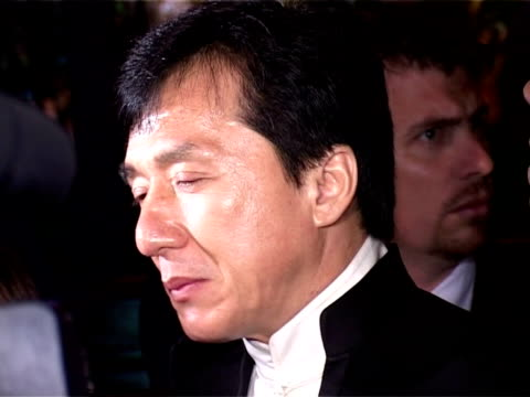 Jackie Chan being interviewed by the Media at the 2005 Cannes Film Festival 'The Myth' After Party arrivals on May 17 2005