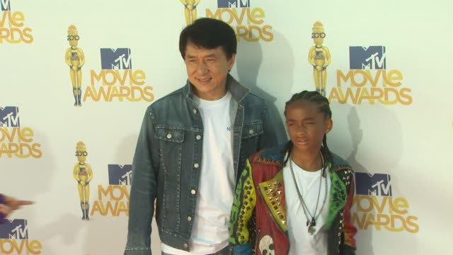 Jackie Chan Jaden Smith at the 2010 MTV Movie Awards at Universal City CA