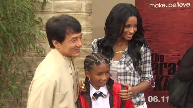 Jackie Chan Jaden Smith Ciara at the 'The Karate Kid' Premiere at Westwood CA