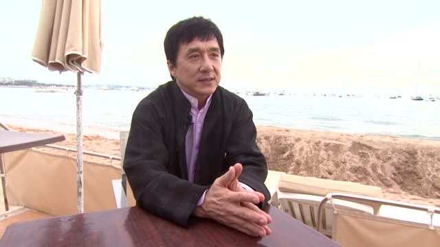 Jackie Chan on being a film producer at the Cannes Wushu Interview with Jackie Chan in Cannes on May 19 2008