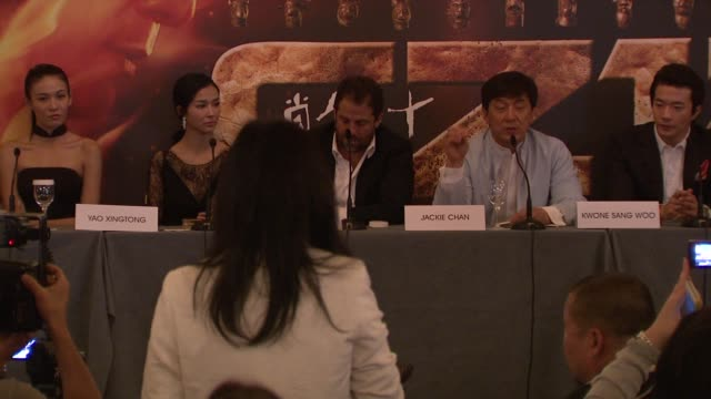 Jackie Chan on why he feels he needed to make this film at Chinese Zodiac Press Conference 65th Cannes Film Festival on May 18 2012 in Cannes France