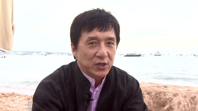 Jackie Chan on why he's in Cannes and on his Wushu film at the Cannes Wushu Interview with Jackie Chan in Cannes on May 19 2008