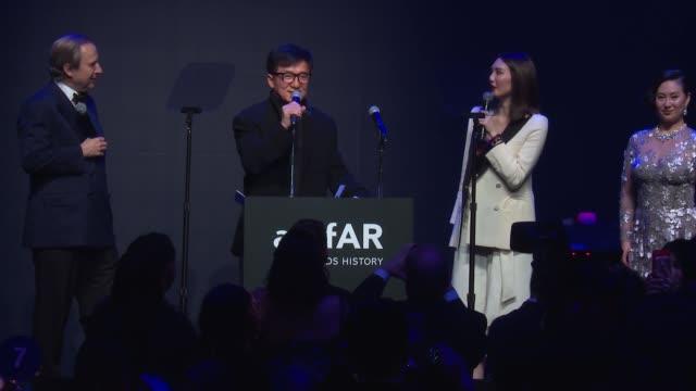 AUCTION Jackie Chan Pansy Ho Charlize Theron auction lots at amfAR Hong Kong Gala 2017 at Shaw Studios on March 25 2017 in Hong Kong Hong Kong