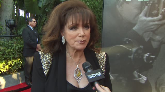 jackie collins on the 2011 vanity fair oscar party arrivals at hollywood ca. - oscar party stock videos & royalty-free footage