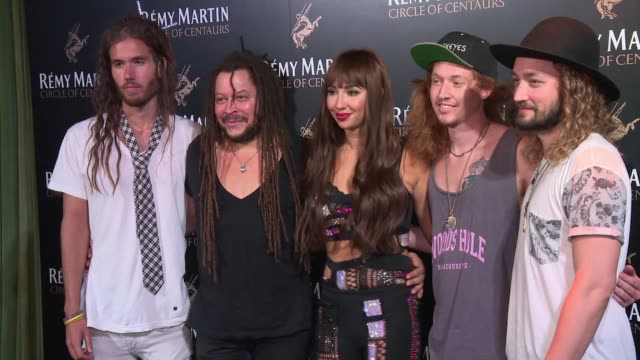 Jackie Cruz and her band The Family Portrait at The House of Remy Martin and Actress Jackie Cruz celebrate launch of 2016 Circle of Centaurs at The...