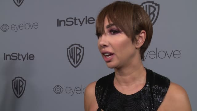 INTERVIEW Jackie Cruz at the Warner Bros Pictures and InStyle Host 19th Annual PostGolden Globes Party at The Beverly Hilton Hotel on January 7 2018...