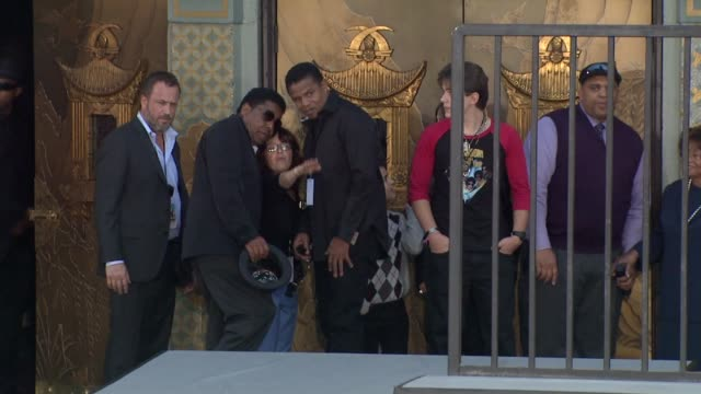 jackie jackson tito jackson and prince jackson at michael jackson immortalized with hand and footprint ceremony in hollywood ca on 1/26/2012 - michael jackson stock videos and b-roll footage