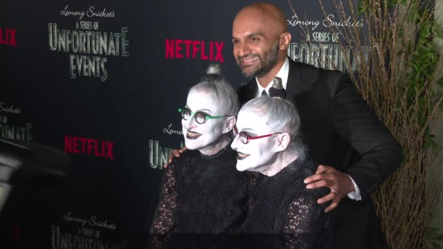 Jackie Robbins Usman Ally and Joyce Robbins at Lemony Snicket's A Series of Unfortunate Events World Premiere Presented by Netflix at AMC Lincoln...