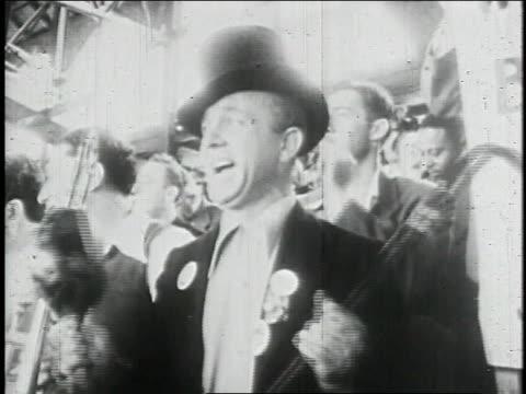 stockvideo's en b-roll-footage met jackie robinson playing baseball / united states - 1947
