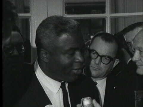 jackie robinson says he feels many black delegates will walk out of the republican national convention, but they will not walk out of the gop. - sport stock videos & royalty-free footage