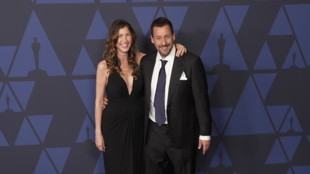 jackie sandler and adam sandler at the 2019 governors awards on october 26 2019 in hollywood california - adam sandler stock videos & royalty-free footage