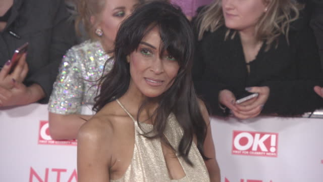 jackie st clair at national television awards at the o2 arena on january 23 2018 in london england - the o2 england stock videos & royalty-free footage