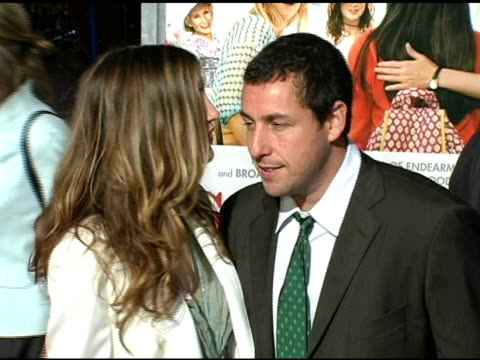 jackie titone and adam sandler at the 'spanglish' premiere at the mann village theatre in westwood california on december 9 2004 - adam sandler stock videos & royalty-free footage