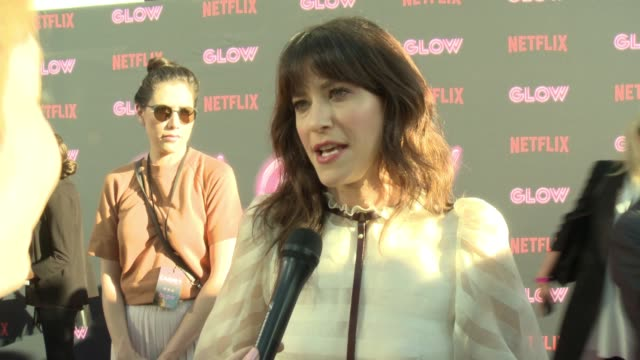 interview jackie tohn on glow on why female driven shows and female empowerment is resonating with people the sisterhood on and off set diversity on... - cinerama dome hollywood stock videos and b-roll footage