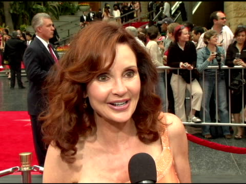 jacklyn zeman on being at the show, being in the fans at the 2006 daytime emmy awards at the kodak theatre in hollywood, california on april 28, 2006. - デイタイム・エミー賞点の映像素材/bロール