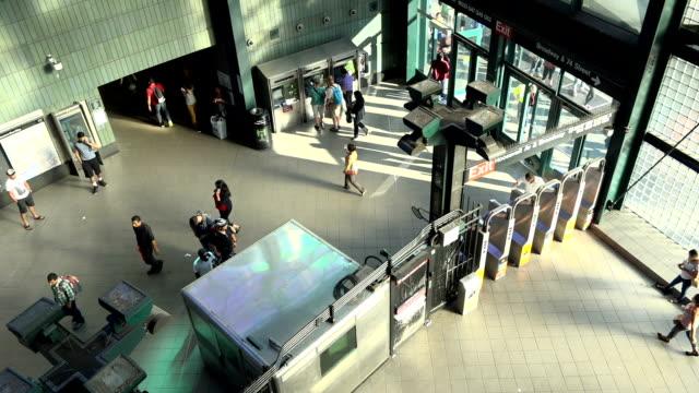 jackson heights–roosevelt avenue, 74th street subway station, new york city - surveillance camera stock videos & royalty-free footage