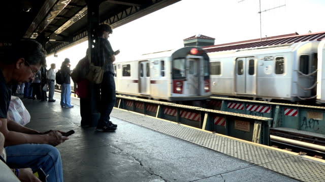 jackson heights–roosevelt avenue, 74th street subway station, new york city - level stock videos and b-roll footage