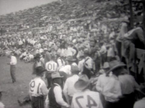 1927 jackson hole rodeo - wyoming stock-videos und b-roll-filmmaterial