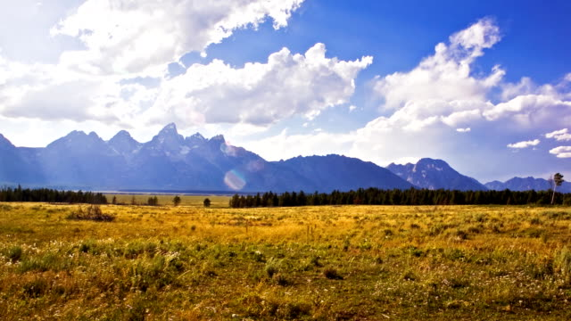 stockvideo's en b-roll-footage met jackson hole time lapse - wyoming