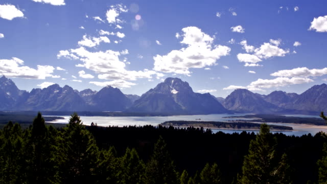 jackson hole, wyoming, zeitraffer - jackson hole stock-videos und b-roll-filmmaterial