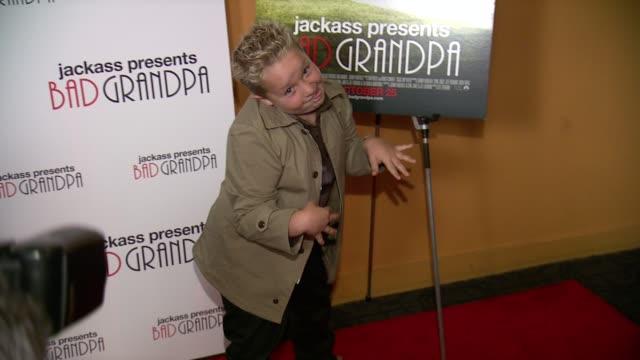 Jackson Nicoll at Jackass Presents Bad Grandpa New York Special Screening at Sunshine Landmark New York NY on 10/21/13 in New York NY