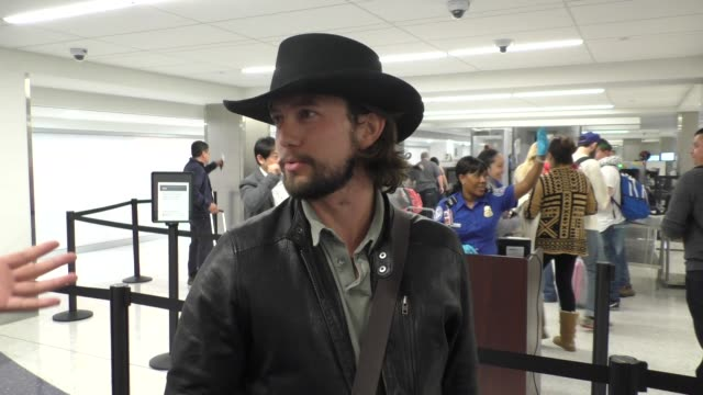 INTERVIEW - Jackson Rathbone talks about what hats are cool to wear...  Stock Footage Video  75cddfe56b3