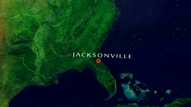 jacksonville 4k zoom in - jacksonville florida video stock e b–roll