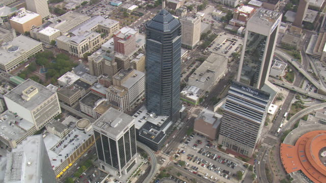 aerial ws jacksonville city / florida, united states - jacksonville florida stock videos and b-roll footage