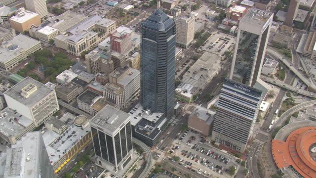 aerial ws jacksonville city / florida, united states - jacksonville florida video stock e b–roll