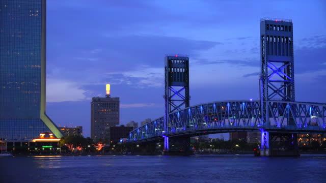 Jacksonville, Florida - Main Street Bridge over the St. John's River at sunset
