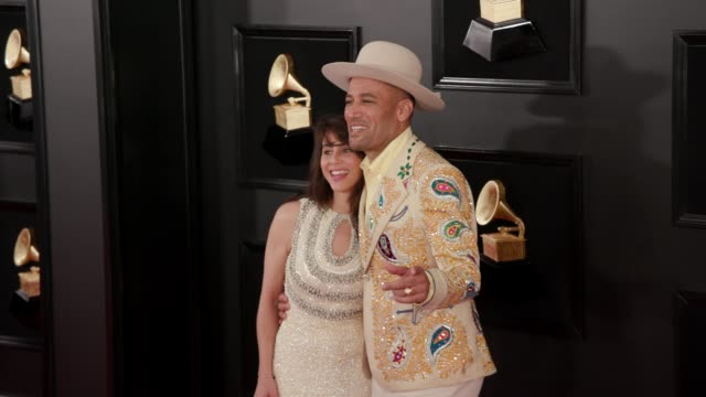 jaclyn matfus and ben harper at the 61st grammy awards arrivals at staples center on february 10 2019 in los angeles california – editorial - editorial stock videos & royalty-free footage