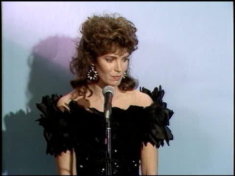 Jaclyn Smith at the 1987 Emmy Awards Inside at the Pasadena Civic Auditorium in Pasadena California on September 20 1987
