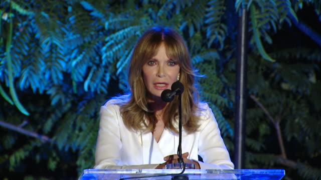 "speech jaclyn smith at the farrah fawcett foundation's ""texmex fiesta"" in los angeles ca - farrah fawcett stock videos and b-roll footage"