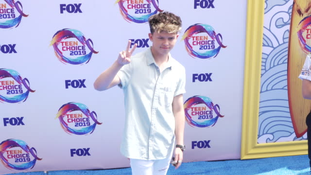 jacob sartorius at the teen choice 2019 on august 11 2019 in hermosa beach california - annual teen choice awards stock videos & royalty-free footage
