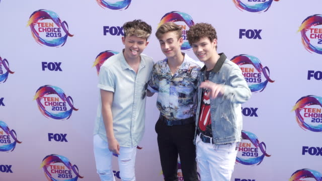 jacob sartorius johnny orlando and hayden summerall at the teen choice 2019 on august 11 2019 in hermosa beach california - annual teen choice awards stock videos & royalty-free footage